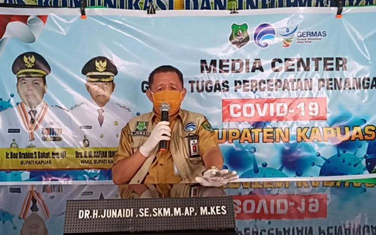 Juru Bicara Gugus Tugas Covid-19 Kapuas H Junaidi