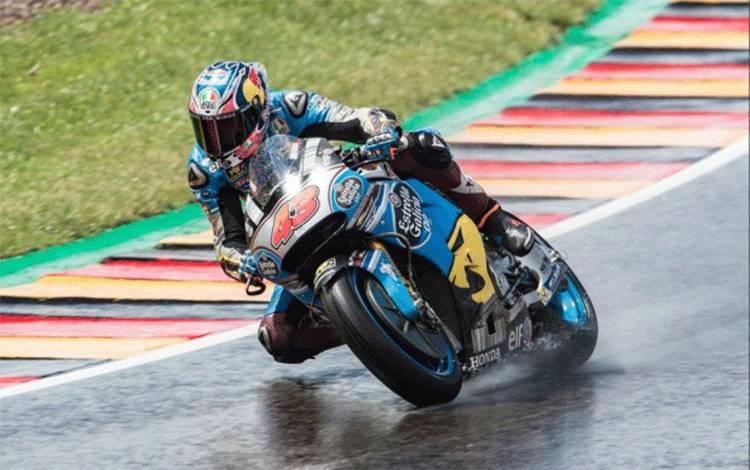 Jack Miller beraksi dalam sesi latihan bebas MotoGP Jerman 2017 di Sachsenring. (marcvds.com)