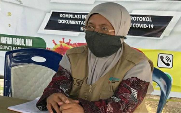 Juru Bicara Dinas Kesehatan Kabupaten Kapuas dr Tri Setyautami