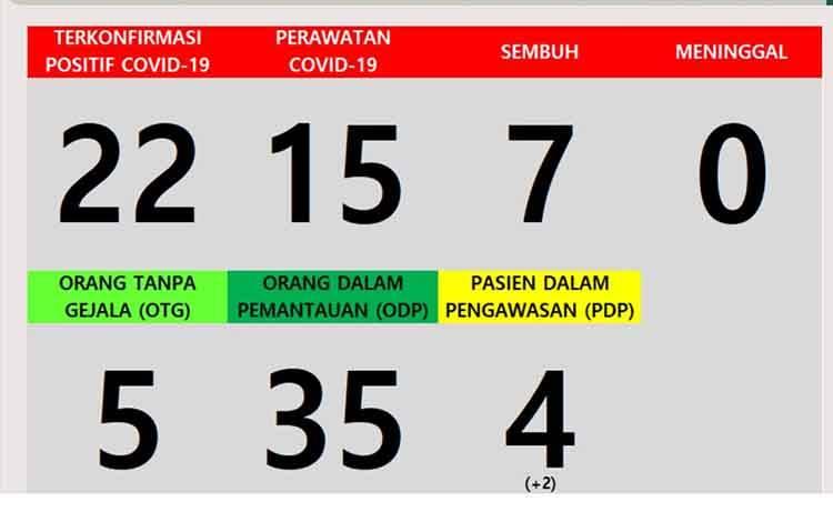Data warga Kabupaten Katingan terpapar Covid-19 hari ini.