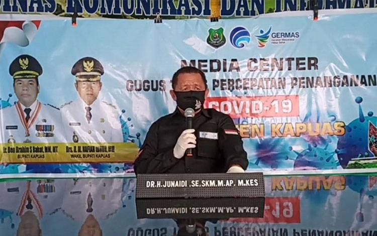 Juru Bicara Gugus Tugas Percepatan Penanganan Covid-19 Kapuas H Junaidi