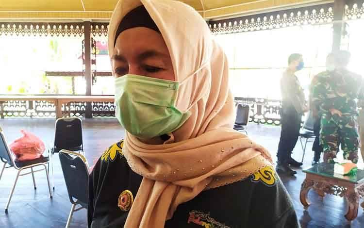 Ketua Harian Tim Gugus Tugas Percepatan Penanganan Covid-19 Kota Palangka Raya, Emi Abriyani.