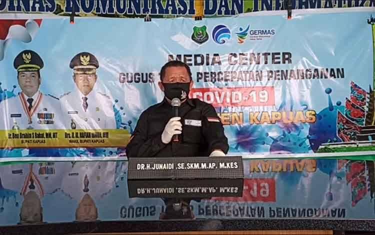 Juru Bicara Gugus Tugad Percepatan Penanganan Covid-19 Kabupaten Kapuas H Junaidi
