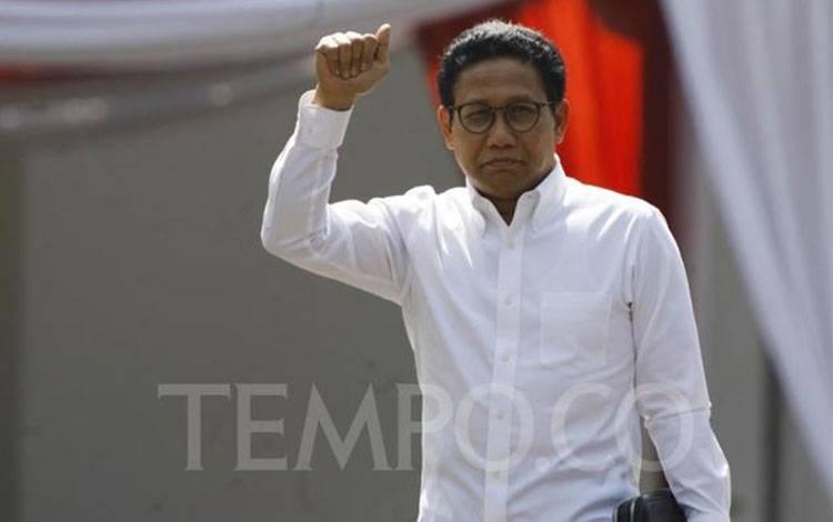 Abdul Halim Iskandar tiba di Komplek Istana Kepresidenan, Jakarta, Selasa 22 Oktober 2019. Abdul Halim Iskandar merupakan Ketua DPRD Jawa Timur yang juga kakak dari Ketua Umum PKB Muhaimin Iskandar alias Cak Imin. TEMPO/Subekti.