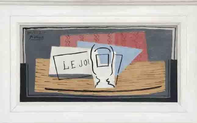 """Lukisan minyak 1921 karya Picasso yang dikenal sebagai """"Nature Morte"""" (Still Life). (foto : CNN via teras.id)"""