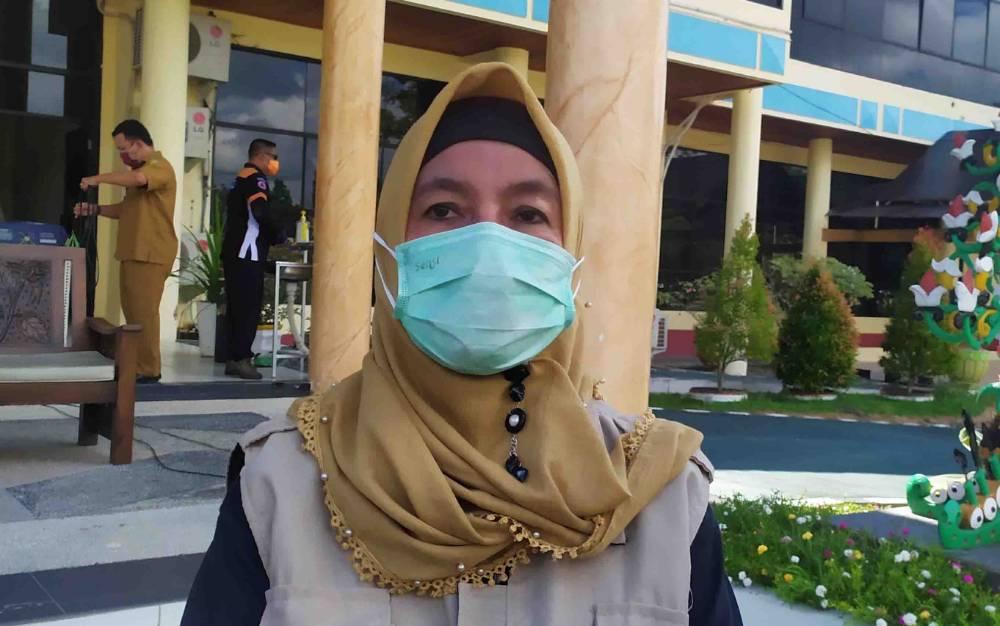 Ketua Harian Gugus Tugas Percepatan Penanganan Covid-19 Palangka Raya, Emi Abriyani.