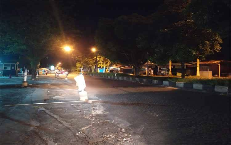 Tidak ada takbir keliling di Kota Palangka Raya. Kondisi jalan raya juga sepi, Sabtu malam 23 Mei 2020
