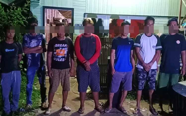 7 orang ini saat diberikan imbauan dan peringatan oleh petugas agar tidak mengulangi kembali perbuatannya
