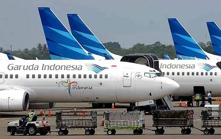 Ilustrasi Garuda Indonesia. (foto : TEMPO/Tony Hartawa)