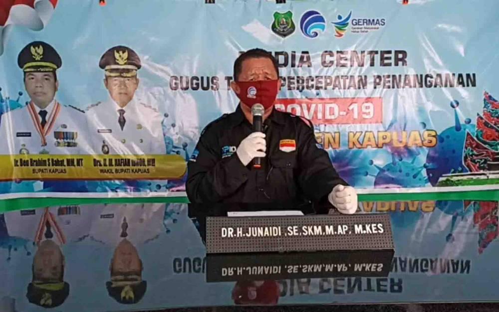 Juru Bicara Gugus Tugas Percepatan Penanganan Covid-19 Kabupaten Kapuas, Junaidi.