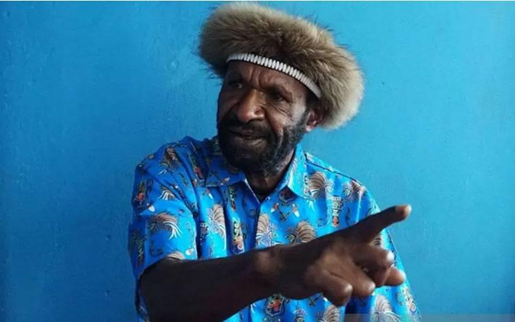 Ketua Barisan Merah Putih (BMP) Kurulu di Kabupaten Jayawijaya, Marius Marian. ANTARA /HO-Humas Polda Papua/am.