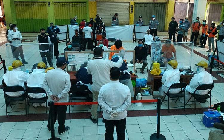 Hasil Rapid Test Massal di PPM Sampit: 3 Pedagang Reaktif