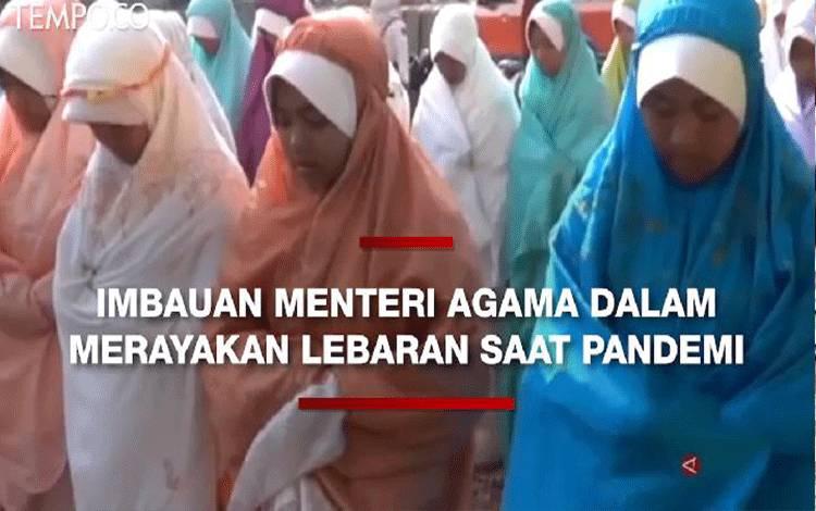Menteri Agama Fachrul Razi, menyampaikan imbauan kepada masyarakat agar tidak mengurangi kegembiraan dalam menyambut dan merayakan Idul Fitri di masa pandemi.