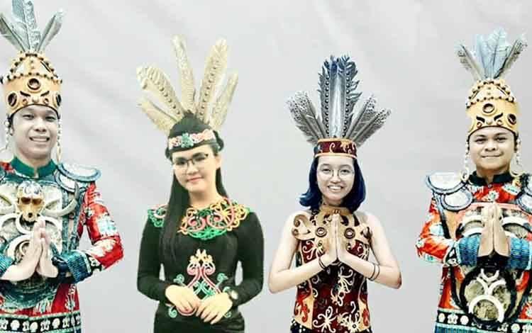 Putra putri Kabupaten Barit Utara yang  ditugaskan dalam konser kemerdekaan (Virtual Choir) Gita Bahana Nusantara di istana negara