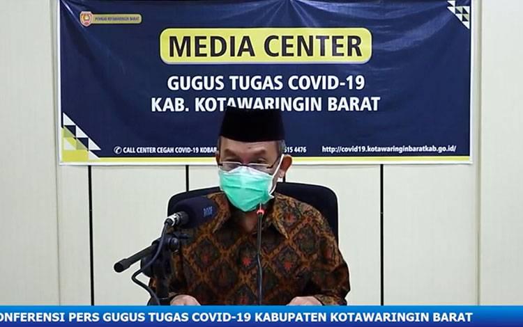 Jubir Tim Gugus Penanganan Covid-19 Kabupaten Kotawaringin Barat (Kobar) Achmad Rois, Sabtu, 30 Mei 2020,