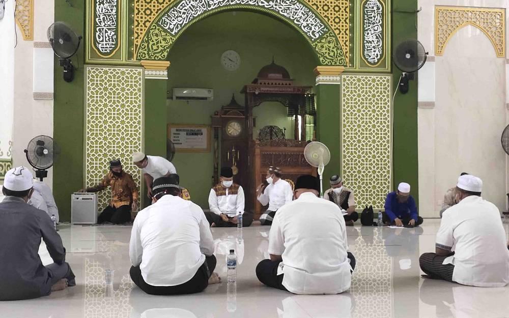 Sosialiasi ibadah era new normal di Masjid Al Aqso Sukamara.