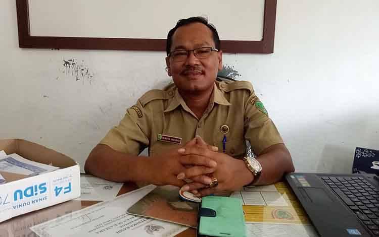 Kepala Seksi Pengendalian Penyakit, Bidang Pengendalian Masalah Kesehatan (PMK) Dinas Kesehatan Sukamara, Benson Nababan.
