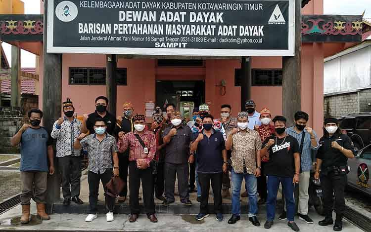 Jajaran Dewan Adat Dayak Kabupaten Kotawaringin Timur.