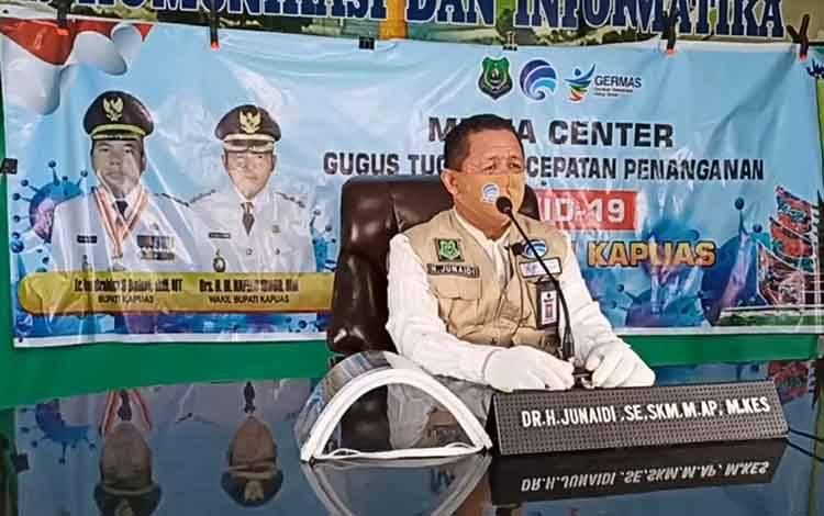 Juru Bicara Gugus Tugas Percepatan Penanganan Covid-19 Kabupaten Kapuas, H Junaidi.
