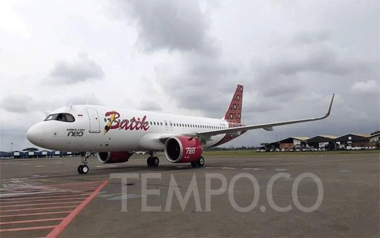 Maskapai penerbangan Batik Air mendatangkan satu unit armada baru jenis Airbus A320 Neo pada hari ini, Kamis, 6 Februari 2020 di Bandara Internasional Soekarno-Hatta. (foto : TEMPO/Francisca Christy Rosana)