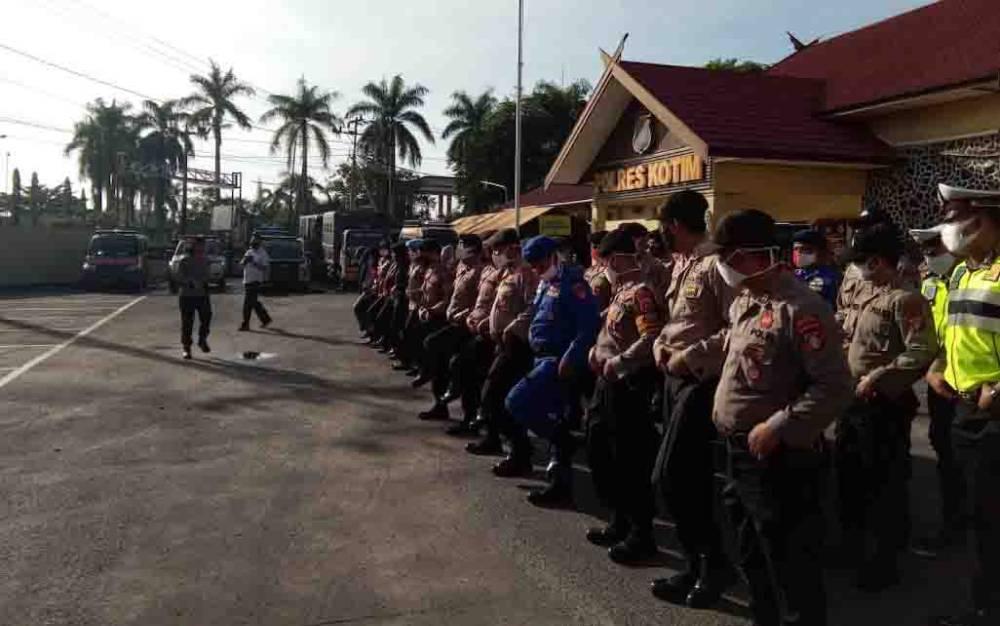 Pelatihan peningkatan kemampuan personel Polres Kotawaringin Timur, Kamis, 18 Juni 2020.