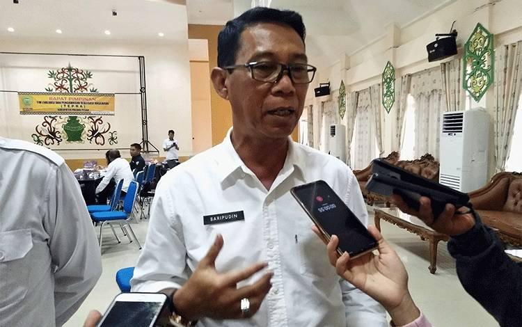 Pj Sekda Pulang Pisau, Saripudin mengingatkan bahwa sanksi bagi ASN yang terlibat narkoba langsung dipecat, Rabu, 24 Juni 2020.