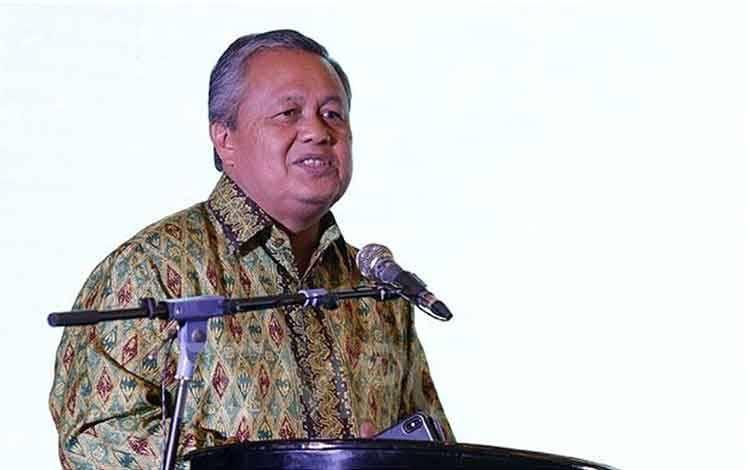 Gubernur Bank Indonesia Perry Warjiyo menyampaikan pemaparan dalam acara Digital Transformation For Indonesian Economy di Hotel Kempinski, Jakarta, Rabu, 11 Maret 2020. TEMPO/M Taufan Rengganis