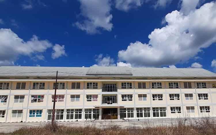 Rusunawa di Desa Jaar yang rencananya dijadikan tempat isolasi pasien covid-19, namun mendapat penolakan dari warga setempat.