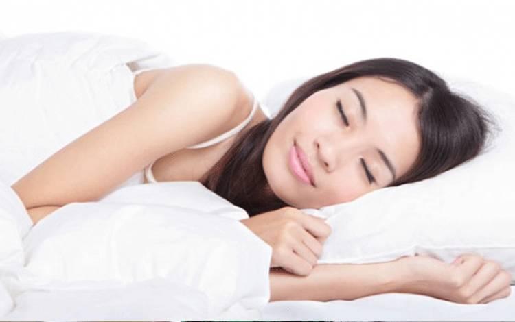 Ilustrasi wanita sedang tidur. shutterstock.com