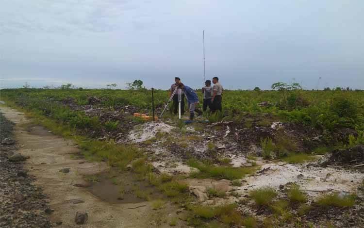 Eksekusi lahan Kelompok Tani Hapakat Bersama di lingkar Utara, Kecamatan Baamang, Kabupaten Kotim