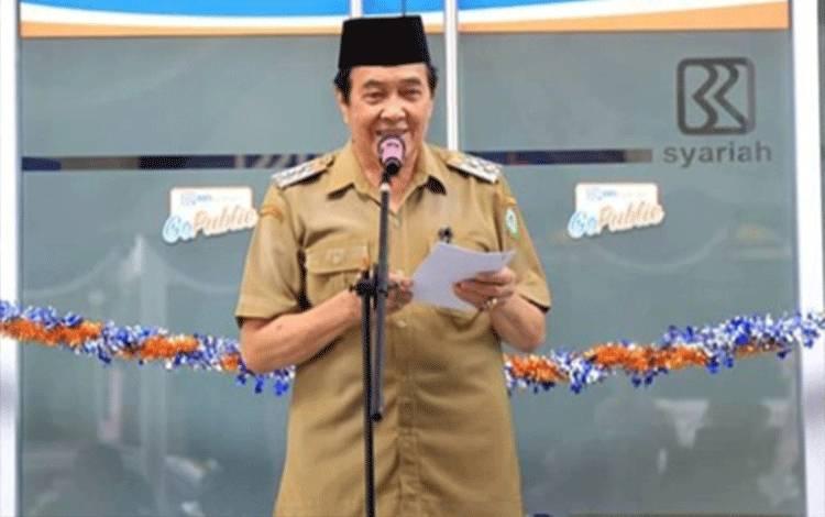 Wakil Bupati Kotim Taufiq Mukri menyampaikan realisasi penyerapan anggaran Pemerintah Kotim tertinggi se-Kalteng.