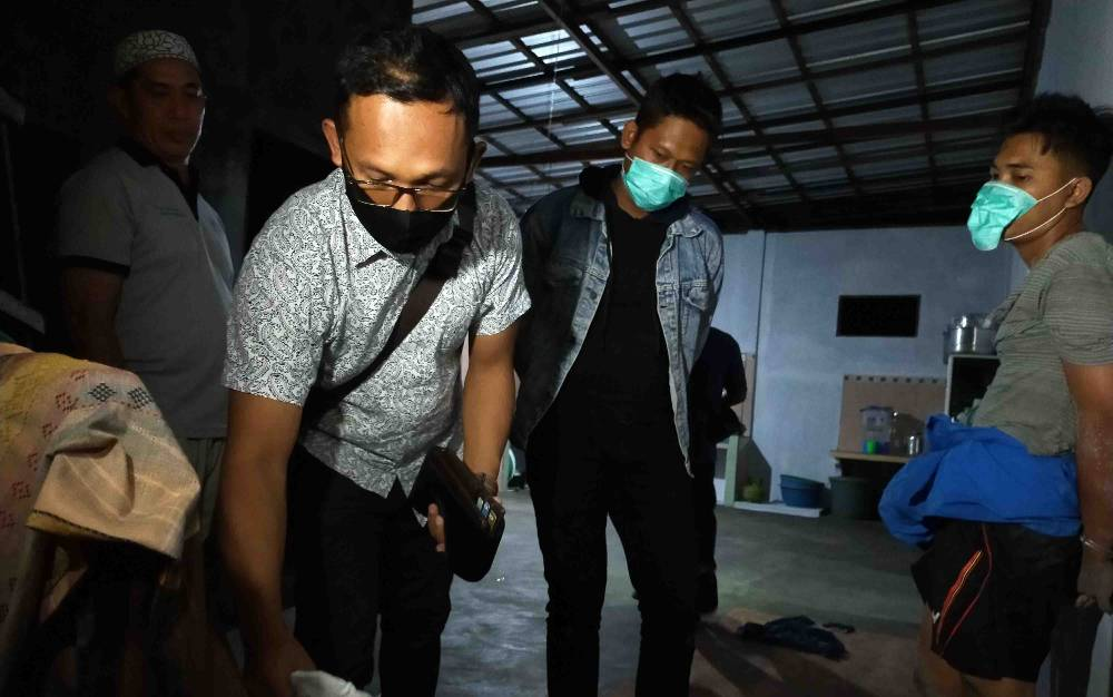 Penangkapan tersangka bandar sabu di Sampit, Jumat, 10 Juli 2020 malam.