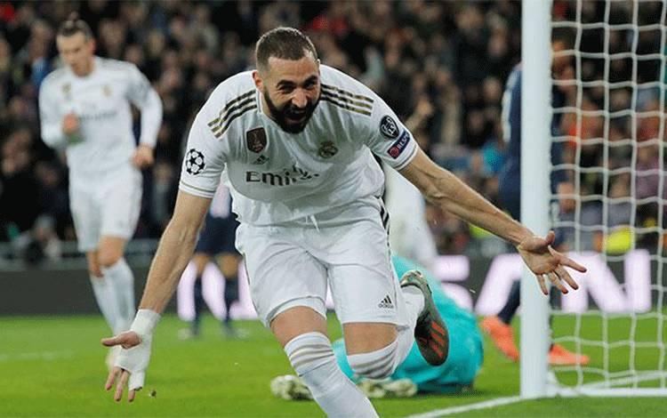 Pemain Real Madrid, Karim Benzema. Reuters