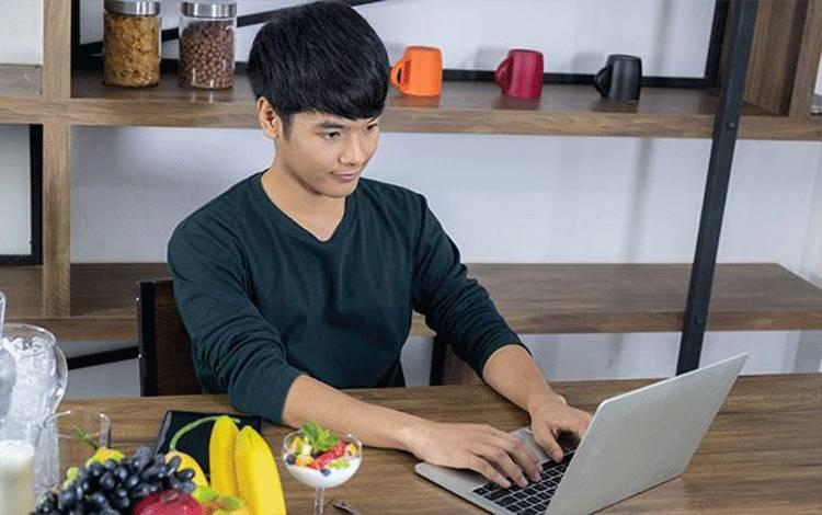 Ilustrasi bekerja dari rumah. Shutterstock