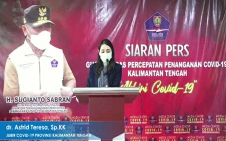 Juru bicara Covid-19 Provinsi Kalimantan Tengah dr Astrid Teresa