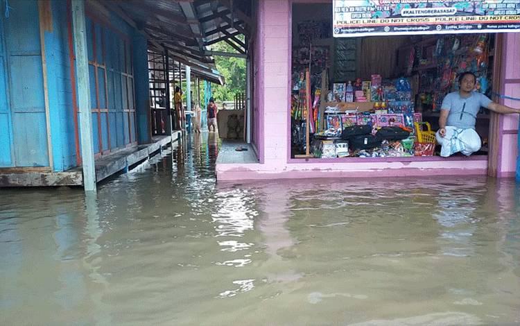 Salah satu titik banjir yang terjadi di wilayah Kabupaten Katingan.