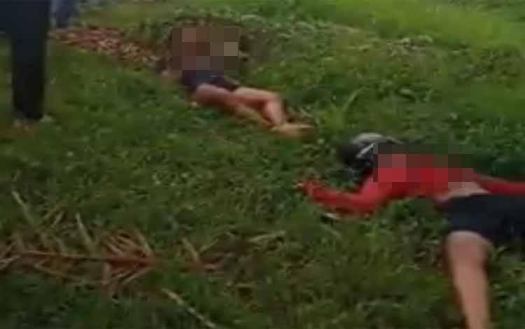 Korban laka lantas yang mengakibatkan keduanya tewas, Minggu, 12 Juli 2020