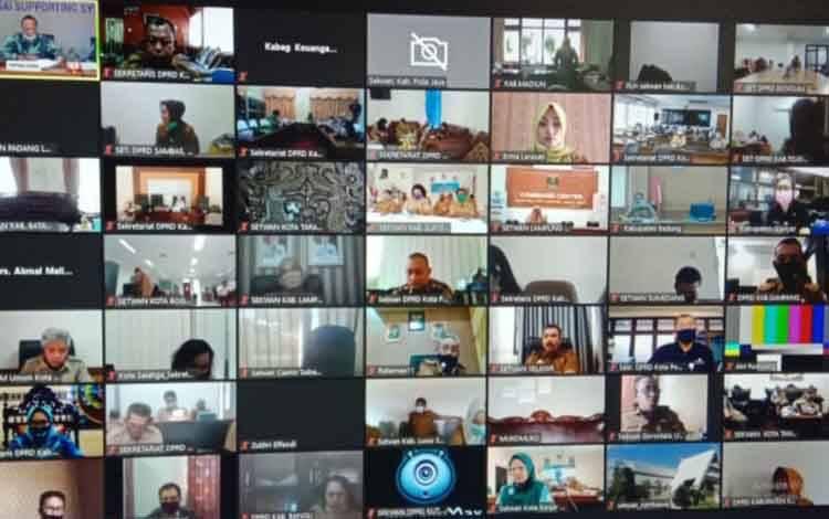 Sekretariat Dewan Kota Palangka Raya Ikuti Rakernas XI Asdeksi Secara Virtual