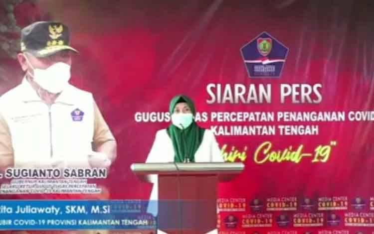 Juru bicara Covid-19 Provinsi Kalimantan Tengah dr Rita Juliawaty