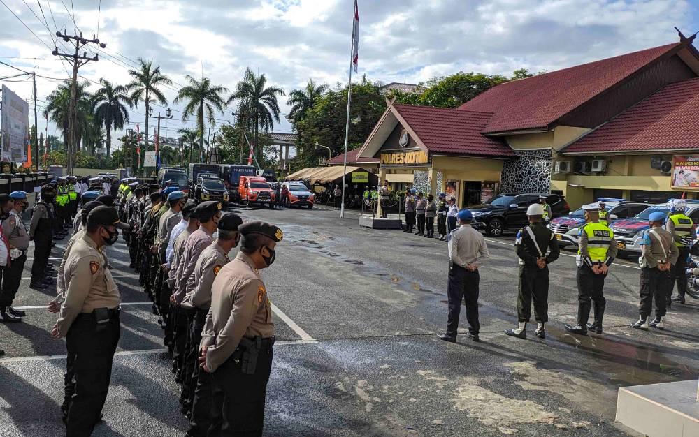Apel gelar pasukan Operasi Patuh Telabang di Polres Kotawaringin Timur, Kamis, 23 Juli 2020.