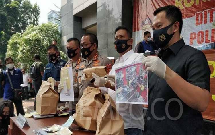 Polda Metro Jaya saat merilis kasus kematian Editor Metro TV Yodi Prabowo pada Sabtu, 25 Juli 2020. TEMPO/M Julnis Firmansyah