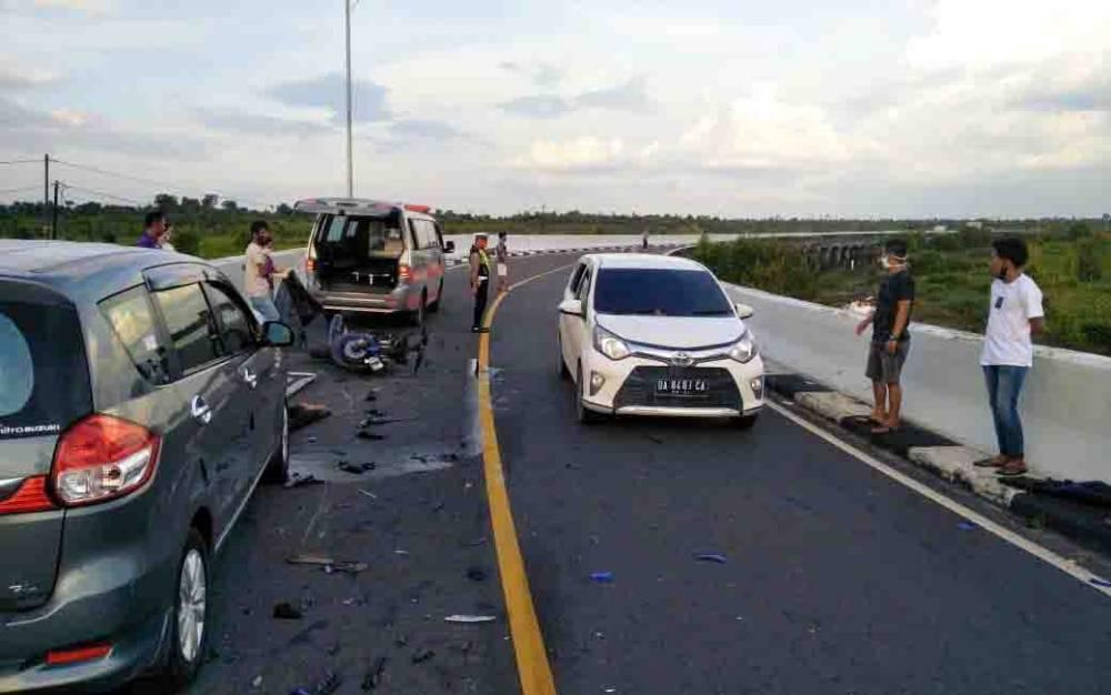 Lokasi kecelakaan maut di Jembatan Tumbang Nusa, Kecamatan Jabiren Raya, Kabupaten Pulang Pisau, Senin sore, 27 Juli 2020.