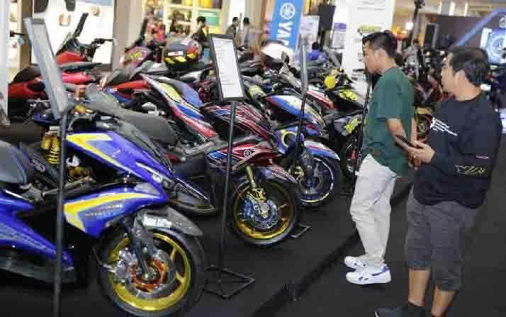 Pelaksanaan CustoMAXI di Solo dalam putaran ke-6 ajang modifikasi motor matik Yamaha. (foto : Dok YIMM via teras.id)