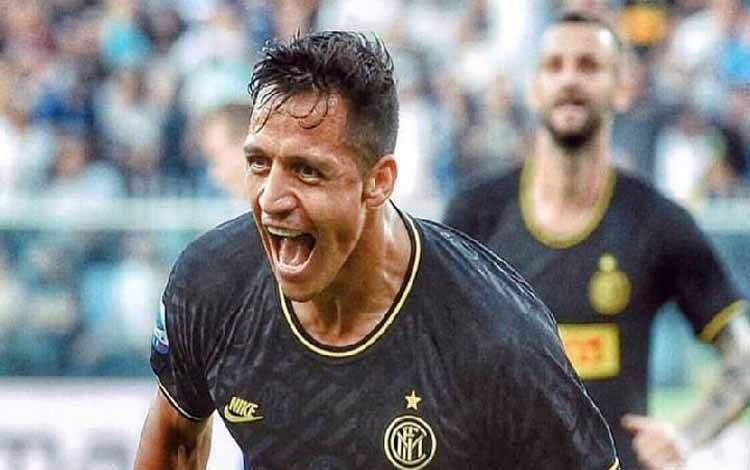Penyerang Inter Milan, Alexis Sanchez. Instagram/@alexis_offocia1