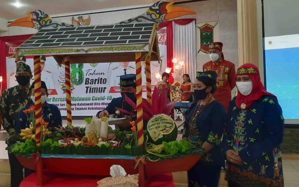 Peringatan HUT ke 18 Kabupaten Barito Timur, Senin, 3 Agustus 2020.