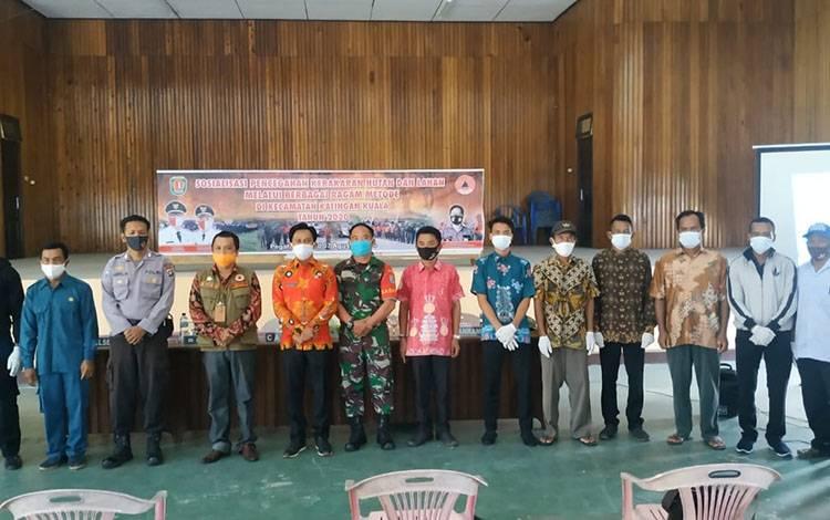 Sosialisasi pencegahan karhutla di Kecamatan Katingan Kuala, Kamis, 6 Agustus 2020.