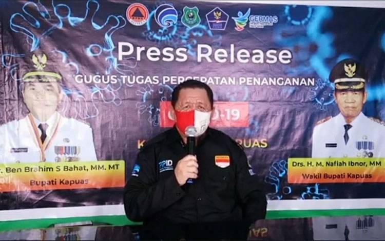 Juru Bicara Satgas Percepatan Penanganan Covid-19 Kabupaten Kapuas, Junaidi.