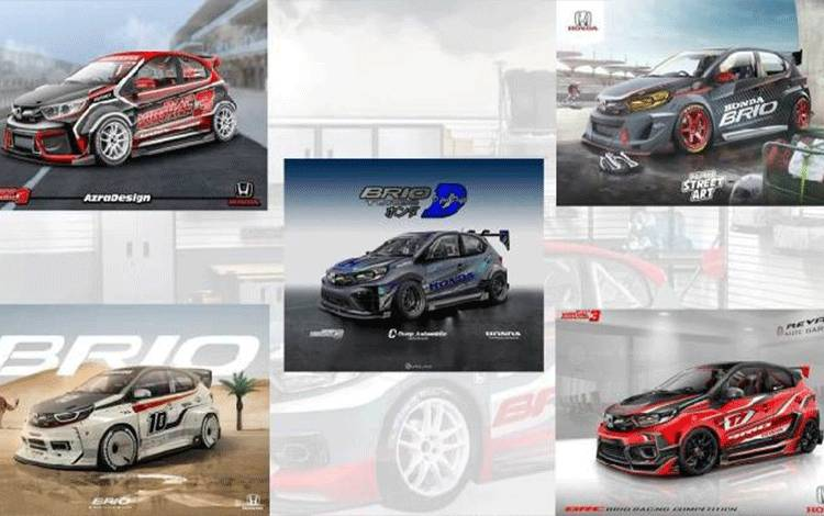 Beberapa desain terpilih kontes modifikasi Brio V-Mod 2020. (HPM)