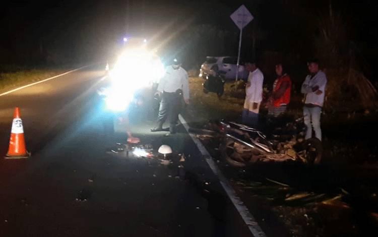 Kecelakaan yang terjadi di Jalan Tjilik Riwut menewaskan satu orang pengendara.
