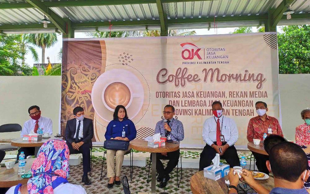 Coffee Morning yang dilaksanakan Otoritas Jasa Keuangan Kalteng, Senin, 10 Agustus 2020.